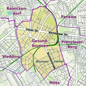 Berlin Karte Stadtteile Ost West.Berlin Gesundbrunnen Index